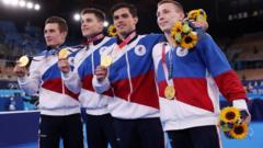 David Belyavskiy, Nikita Nagornyy, Artur Dalaloyan and Denis Abliazin of Team ROC.