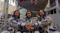 Tim Peake and his colleagues