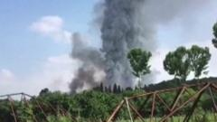 Blast from fireworks factory in Turkey