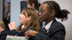 School girls return to school