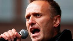 Russian opposition leader Alexei Navalny delivers a speech in Moscow, Russia, in September 2019.