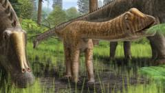 An artist impression of a baby diplodocus