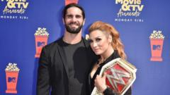 Seth Rollins-and-Becky Lynch-at-MTV-Awards-2019.