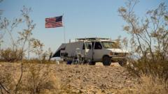 Van belonging to an America nomad