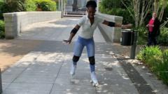 Shanequa roller-blading