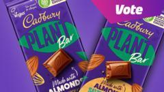 Cadburys' vegan choclate