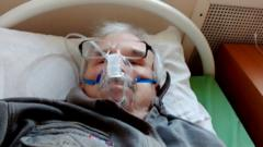 Alongside Valery Gilyov's final diary entry he posted a selfie in an oxygen mask