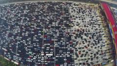 Traffic jam on the outskirts of Beijing