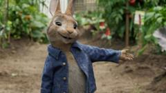 Peter Rabbit, voiced by James Corden