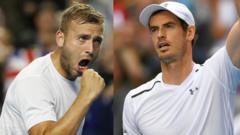 British tennis players Andy Murray and Dan Evans