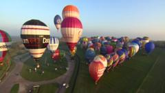 Hot air Balloon world record attempt