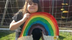 Darcey-with-her-dog-and-rainbow