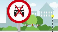 Animation of road banning roads