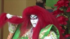 Traditional kabuki dancer