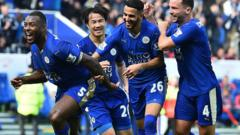 Wes Morgan celebrates