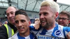 Brighton's Anthony Knockaert and Oliver Norwood