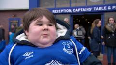 Everton fan Noah