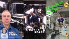 Tim Kopra in space