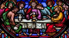 Last supper stained glass