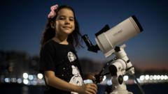 Nicole and her telescope