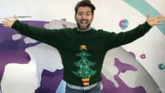 Ricky in a Christmas jumper