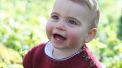 Prince Louis smiling