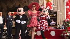 Minnie and Mickey Mouse with Katy Perry
