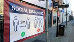Sign about social distancing