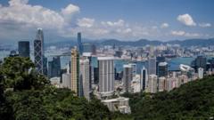 Skyline of Hong Kong, seen from Victoria Peak in September 2012