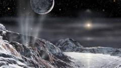An artists impression of Pluto's surface