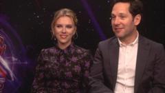 Stars of Marvel's Avengers: Endgame, Paul Rudd a.k.a. Ant-Man and Scarlett Johansson a.k.a. Black Widow.