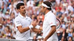 Djokovic with Federer