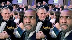 Daniel Craig and Idris Elba.