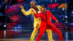 Charles Venn dances with Karen Clifton