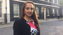 Naz outside number 10 Downing Street