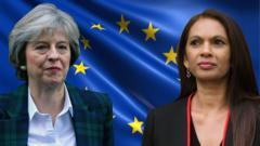 Theresa May and Gina Miller