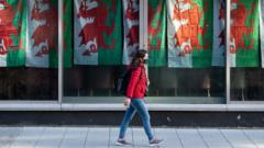 girl-walking-in-front-of-welsh-flag