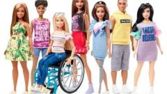 Barbie in a wheelchair.