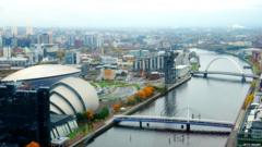Glasgow city centre skyline