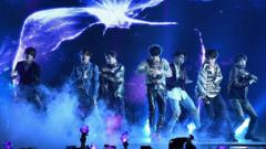 K-pop band BTS performing on stage