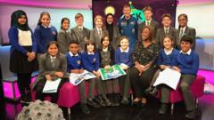 Tim Peake visits Newsround