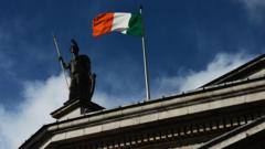 Irish flag flying on top of the General Post Office in Dublin