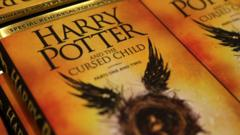 Piles of the new Harry Potter script book 'Harry Potter and the Cursed Child Parts One and Two'
