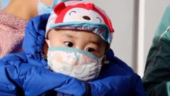 Baby with face mask