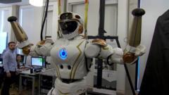 Valkyrie robot in Edinburgh