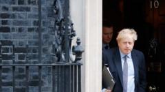 Boris Johnson leaves Downing Street on 19 October