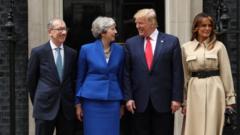 Philip May, Theresa May, Donald Trump and Melania Trump