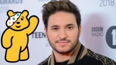 Image shows Jonas Blue and Pudsey