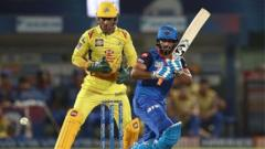 Rishabh Pant of the Delhi Capitals bats during the Indian Premier League IPL Qualifier Final match between the Delhi Capitals and the Chennai Super Kings at ACA-VDCA Stadium on May 10, 2019 in Visakhapatnam, India