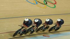 men's cycling team pursuit final